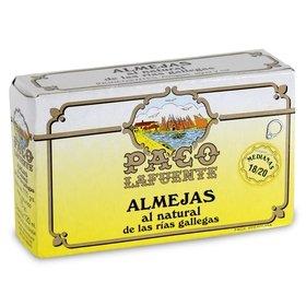 Clams from Galicia's Rias Paco Lafuente 18/20 u. 111 gr