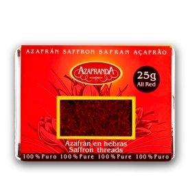 Pure All Red Saffron threads Azafranda, 25-Gram Box (Sargol)