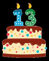13th anniversary cake