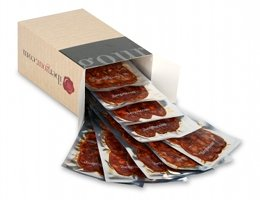 Open box of Chorizo Iberico Bellota from Extremadura - 100-gram Pack
