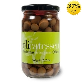 Organic Arbequina Olives Olicatessen 160 gr