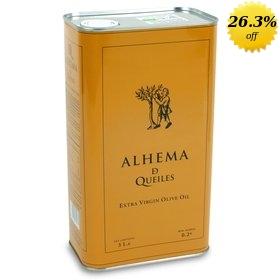 Organic Extra Virgin Olive Oil Alhema de Queiles 3 litres
