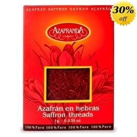 Pure Saffron threads Azafranda, 1-Gram Box