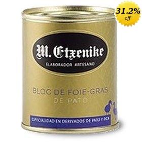 Block of Duck Foie gras M. Etxenike 130 gr