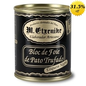 Block of Duck Foie gras with truffles M. Etxenike 130 gr