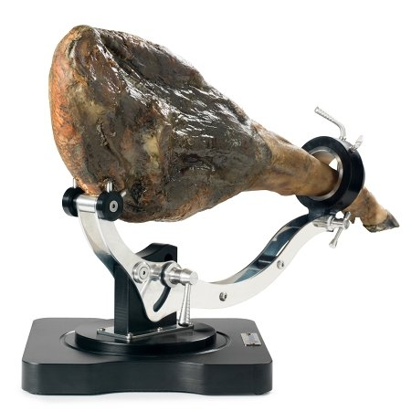 Spanish ham on a Jamonero Buarfe Elite Plus, horizontal position