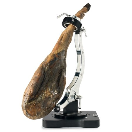 Spanish ham on a Jamonero Buarfe Elite Plus, vertical position