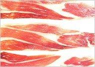 Jabugo ham slices