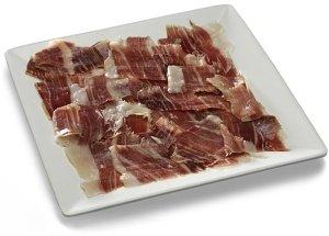 A plate of jamon iberico pata negra