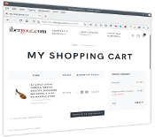 My shopping cart page at IberGour